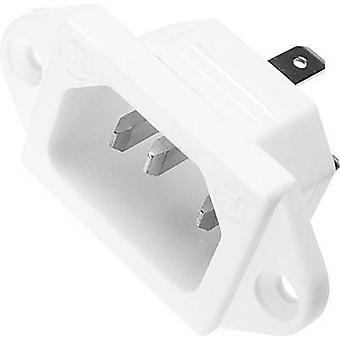 IEC connector 781 Series (mains connectors) 781 Plug, vertical mount Total number of pins: 2 + PE 10 A White Kaiser 781/ws 1 pc(s)