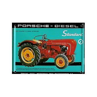 Tractor Porsche postal Metal / mini-signo