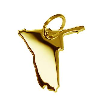 Trailer map NAMIBIA pendants in massive 585 gold