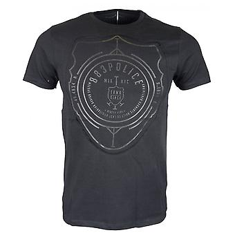 883 Police Onzo Slim Fit Round Neck Black T-shirt