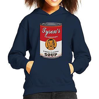 Mike Tyson Warhol Soup Mix Kid's Hooded Sweatshirt