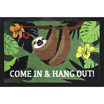 Sloth floor mats come in and hang out 100% polyamide, with non-slip PVC bottom