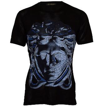 Versace New Dionysus 3D Print Luxe Crew-Neck T-Shirt, Black