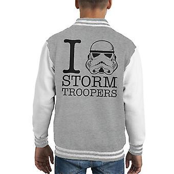 Opprinnelige Stormtrooper I Heart Troopers barneklubb Varsity jakke