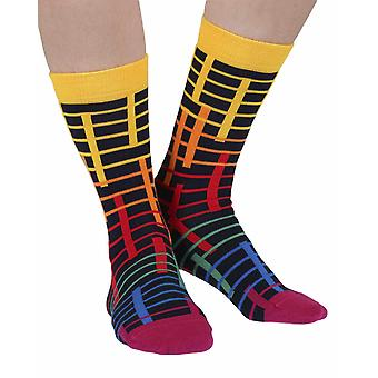 Late luxury combed cotton designer crew socks in black | By Ballonet