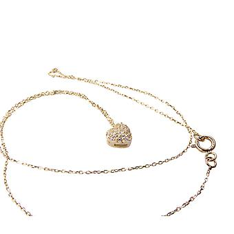 14 k gold Heart Necklace