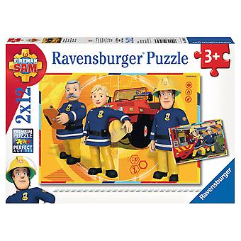 Ravensburger Puzzle Feuerwehrmann Sam 2 x 12 Stück