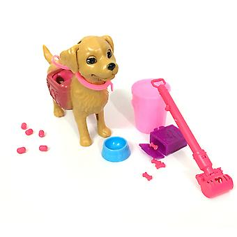 NK A Set of Plastic dog pet for Barbie Doll Girl Doll House Furniture 1:6 Pop Training Accessories Clean toys Funny Bone