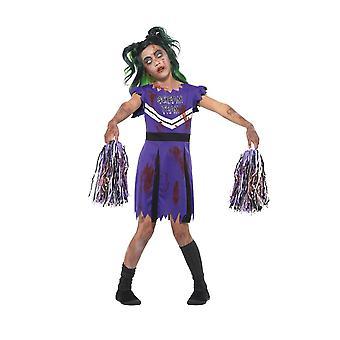 褐色のチアリーダー衣装、ハロウィーン子デザインの凝った服、小さな年齢 4-6