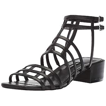 Nine West Womens Xerxes Leather Open Toe Casual Ankle Strap Sandals