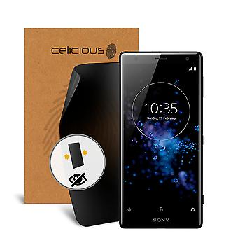 Celicious Privacy 2-Way Anti-Spy Filter Screen Protector Film Compatible with Sony Xperia XZ2