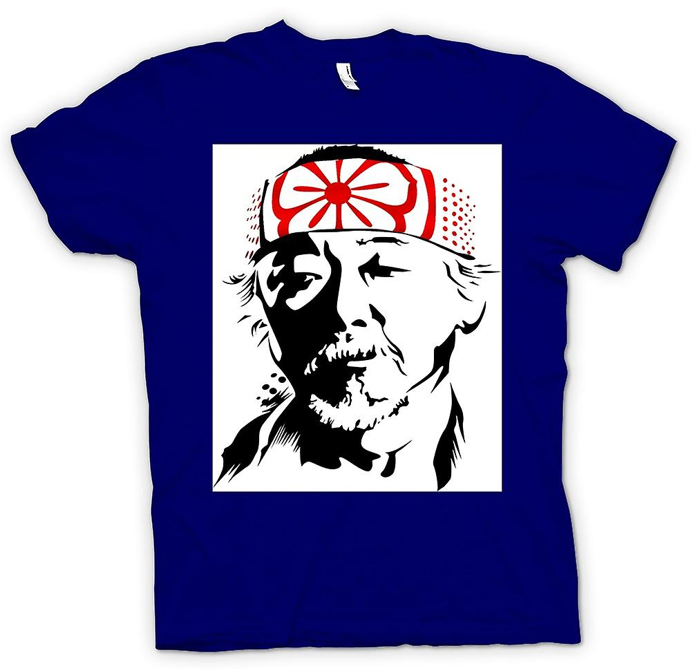 Mens T-shirt - Karate Kid Mr Miyagi - Portrait