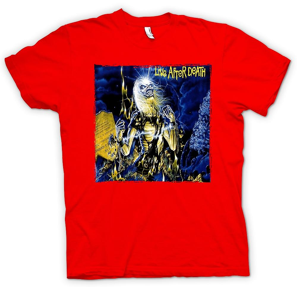 Mens T-shirt - Iron Maiden - Album Art - Live After Death