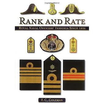 Rank e taxa: insígnia Naval oficiais reais desde 1856