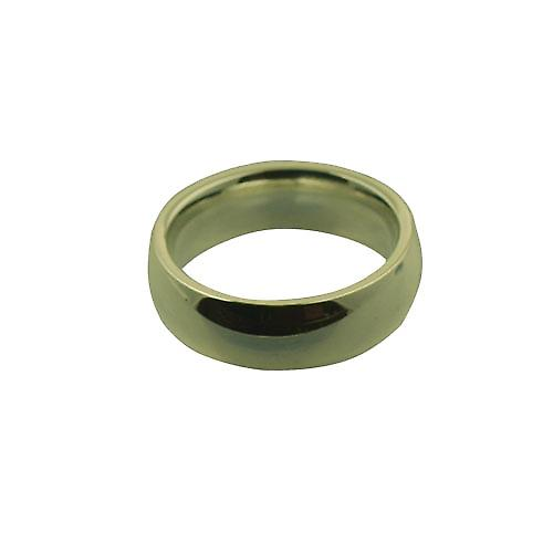 9ct Gold 6mm plain Court shaped Wedding Ring Size P
