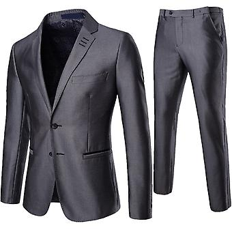 Vestito di solido Business Slim Fit tuta Cloudstyle maschile