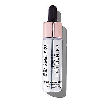 Make-up Revolution flüssige Highlighter-Meerjungfrau Skalen
