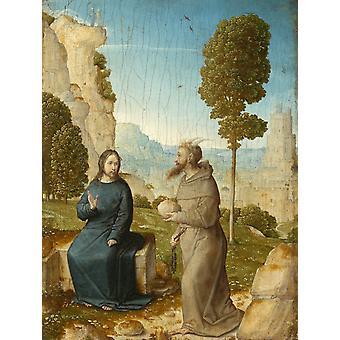 Temptation of Christ,Juan de Flandes,50x40cm