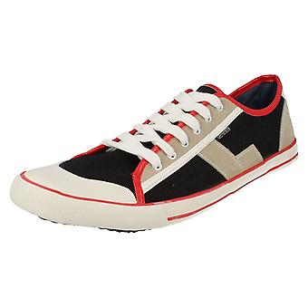 Mens Lambretta Casual Lace Up Pumps Jam Lo