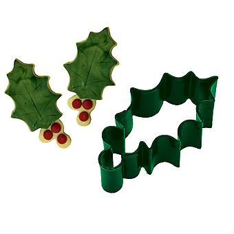 Holly & Berries Christmas Cookie Cutter   Christmas Baking Supplies