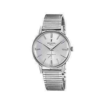 Festina Mens Quartz analog watch with stainless steel band F20250-1