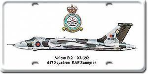 RAF Vulcan licence plate style metal sign