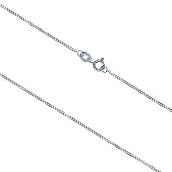 TOC Sterling Silver 1.4 Gram Curb Necklace Chain 18 Inch