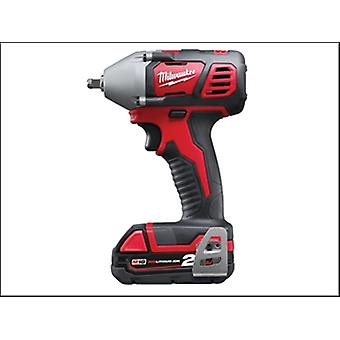 Milwaukee M18 Biw38-202c Compact 3/8in Impact Wrench 18 Volt 2 X 2.0ah Li-Ion