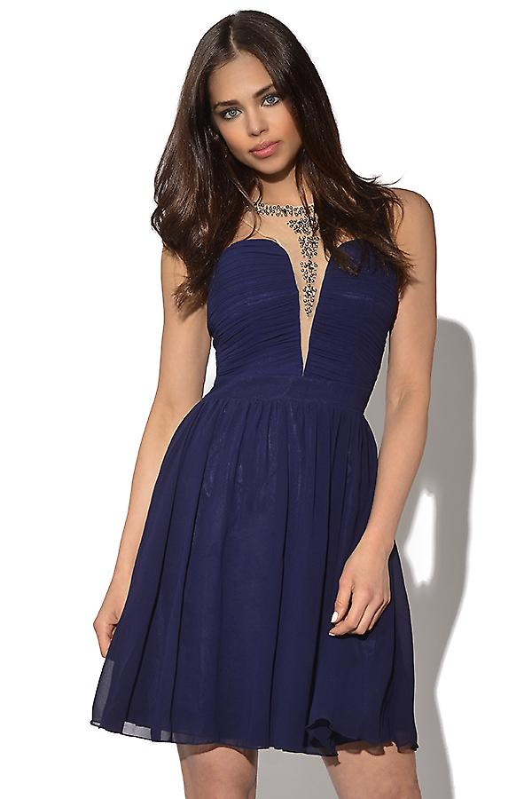Little Mistress Embellished Racer Front Dress