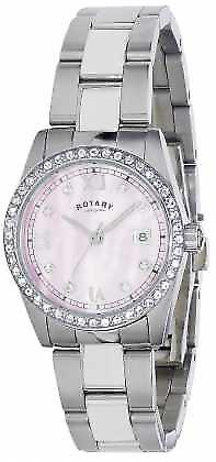 Rotary Womens Havana Crystal Set Steel Bracelet LB02343/07 Watch