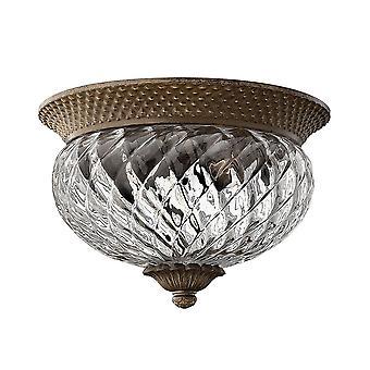 Stead-2 Light Small Semi Flush Ceiling Light Pearl Bronze-HK/PLANT/PZ