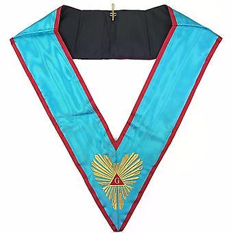 High Quality Masonic Memphis Misraim Officer's collar Machine Embroided