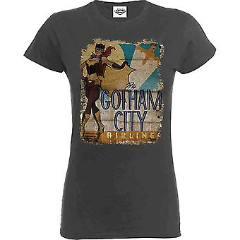 Women's Bombshell Batgirl Gotham City Airlines T-Shirt