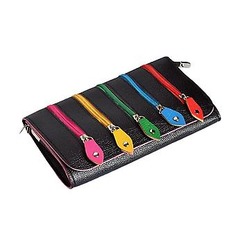 Multi-Colour Zip Clutch Bag