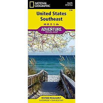 United States - Southeast Adventure Map by National Geographic Maps -