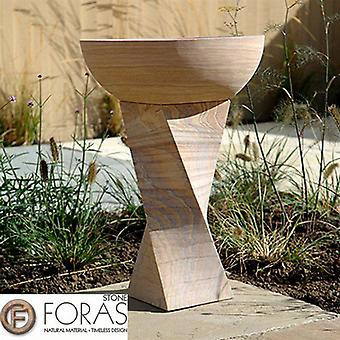 Foras Rainbow Twist Smooth Honed Stone Bird Bath