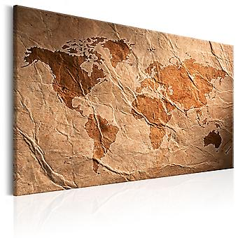 Canvas Print - Paper Map