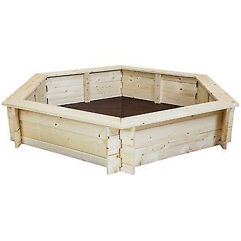 Charles Bentley Kids Enfants Outdoor Hexagonal Wooden Sand Pit Box Play Area Charles Bentley Kids Outdoor Hexagonal Wooden Sand Pit Box Play Area Charles Bentley Kids
