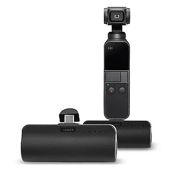 3300 mah banco de energía móvil para dji osmo pcoket tipo-c cargador de batería muelle linterna osmo bolsillo accesorios cardán de mano