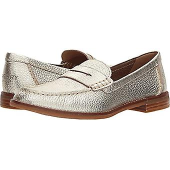 Sperry Womens Seaport Leather Almond Toe Loafers