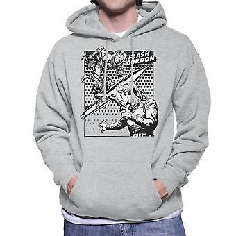 Flash Gordon Space Suit Rocket Montage Men's Hooded Sweatshirt