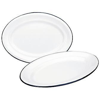 Ibili 25x17 White Oval Tray Cm (Kitchen , Household , Trays)