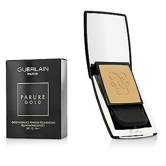 Guerlain parure Gold rejuvenating Gold Radiance pó Fundação SPF 15-# 03 bege naturel-10g/0.35 Oz