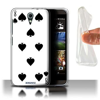 STUFF4 Gel/TPU Case/Cover for HTC Desire 820 Mini/8 of Spades/Playing Cards