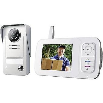 Video door intercom Radio Complete kit Smartwares VD38W Detached Grey, Silver