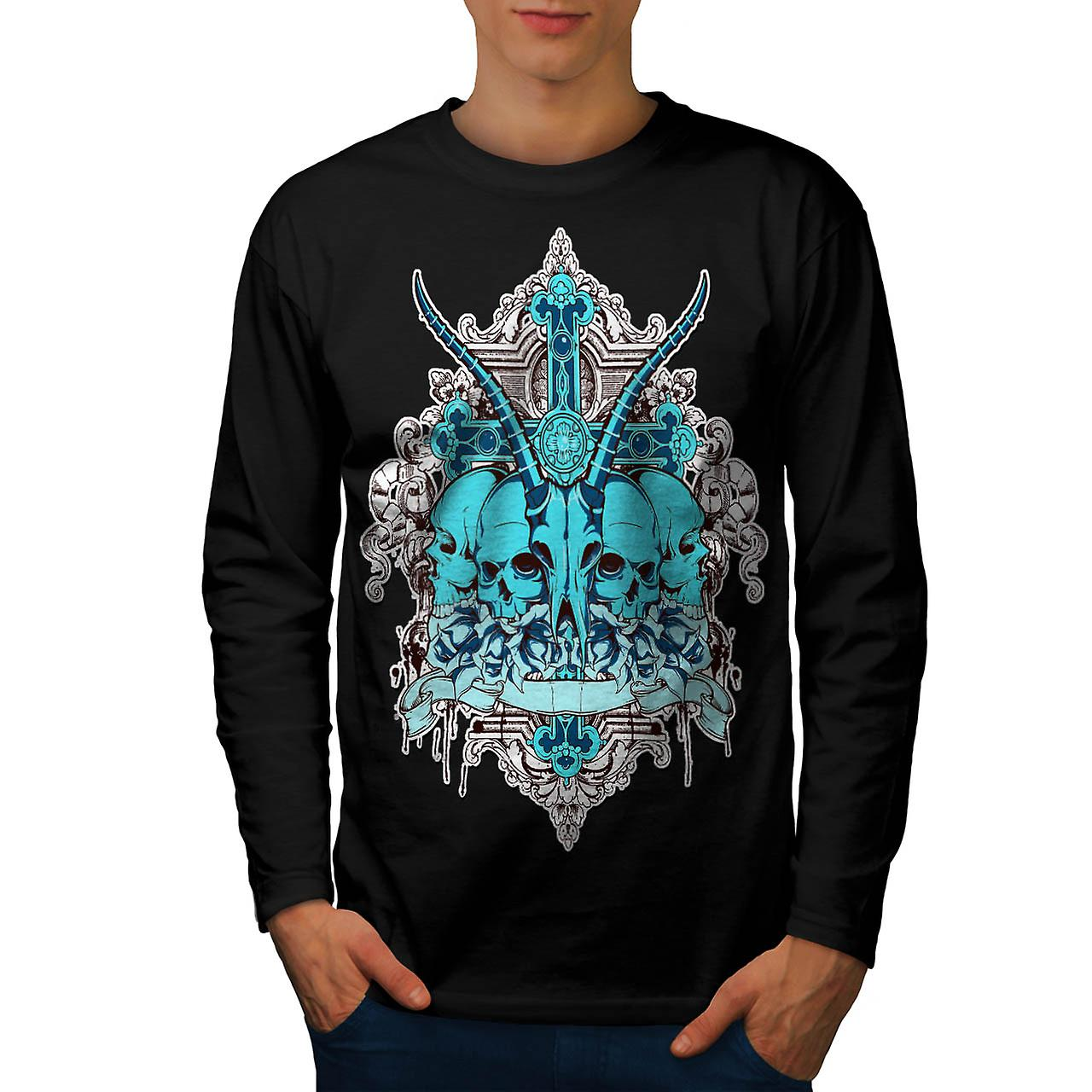 Dead Sacrifice Goat Animal Death Men Black Long Sleeve T-shirt | Wellcoda