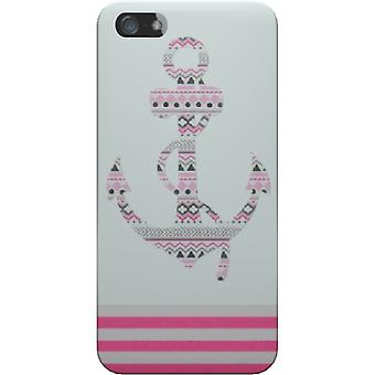 Anchor cover pink stripes for iPhone 5S/SE