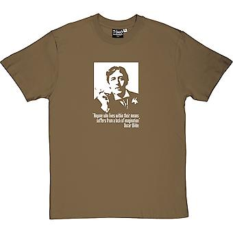 Oscar Wilde Within Their Means Quote Men's T-Shirt