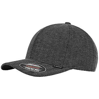 Melange di spinato Flexfit Cap - nero / heather grey