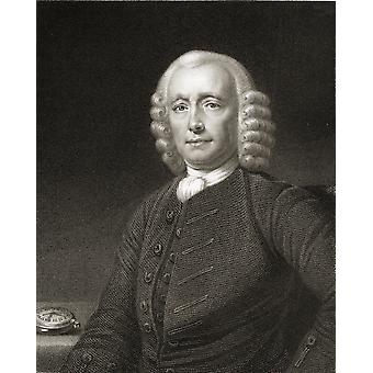 John Harrison 1693-1776 English Horologist And Inventor From The Book Gallery Of Portraits Published London 1833 PosterPrint